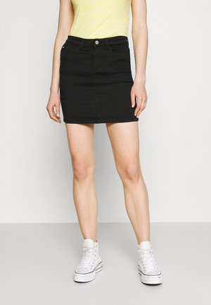 ONLROYAL LIFE SKIRT BIKER - Minirok - black denim