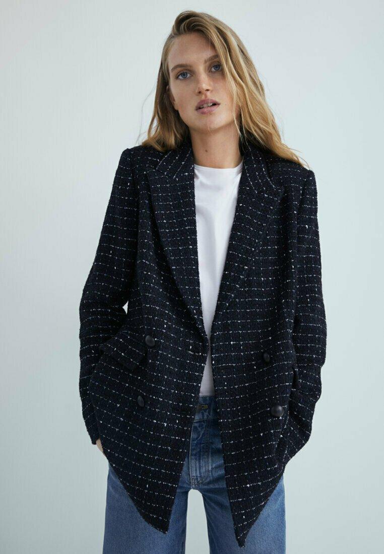 Massimo Dutti - Short coat - dark blue