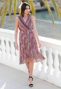 Alba Moda - Day dress - rot/koralle/weiß - 6