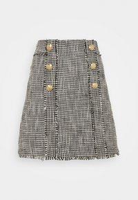 River Island - Mini skirt - black/white - 3
