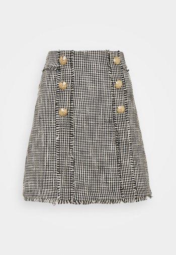 Mini skirt - black/white