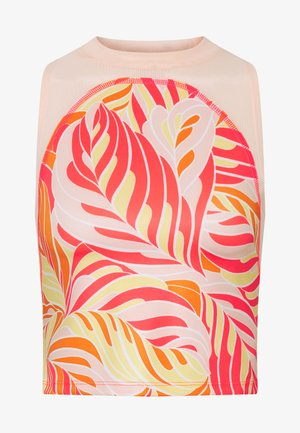 PRINTED TANK PALM - Top - laser crimson/washed coral
