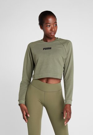 PAMELA  REIF X PUMA LACE UP CREW SWEAT - Bluza - four leaf clover