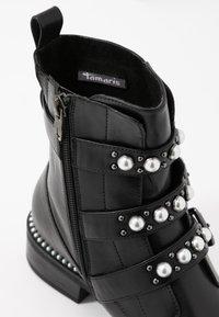 Tamaris - WOMS BOOTS - Cowboy/biker ankle boot - black - 2