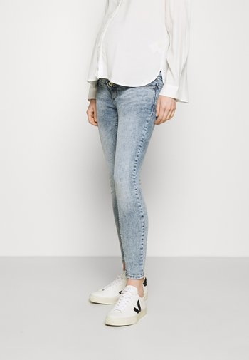 OLMPAOLA LIFE SKINNY - Jeans Skinny Fit - light blue denim