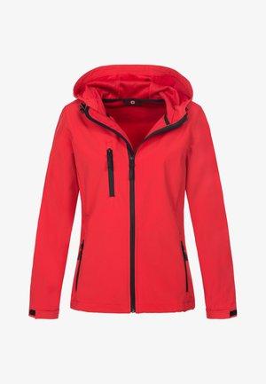 Soft shell jacket - crimson red