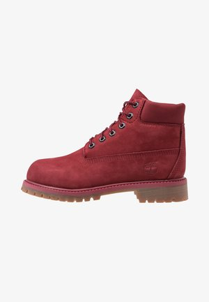 ICONIC - Botines con cordones - dark red