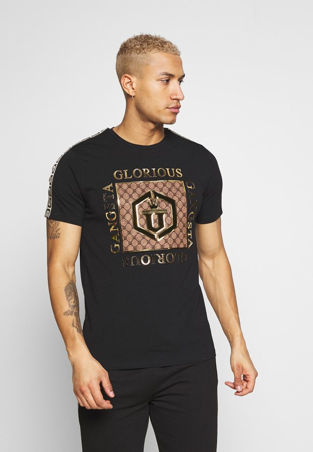VASILI  - T-shirt z nadrukiem - black
