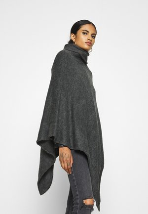 ONLELONA PONCHO - Cape - dark grey