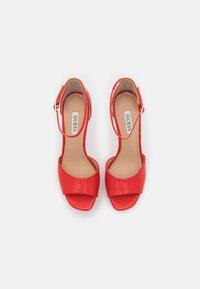Guess - ALDEN - Platform sandals - red - 5