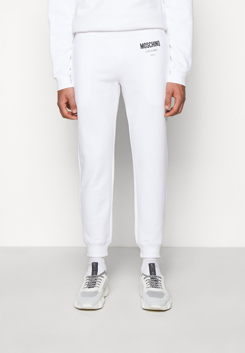 MOSCHINO - TROUSERS - Tracksuit bottoms - white