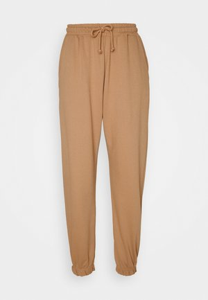 OVERSIZED JOGGER - Tracksuit bottoms - camel