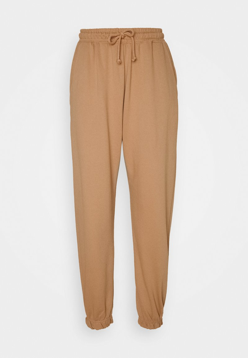 Missguided - OVERSIZED JOGGER - Tracksuit bottoms - camel