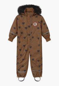 Mini Rodini - KEBNEKAISE HEARTS - Snowsuit - brown - 0