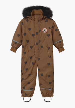 KEBNEKAISE HEARTS - Snowsuit - brown