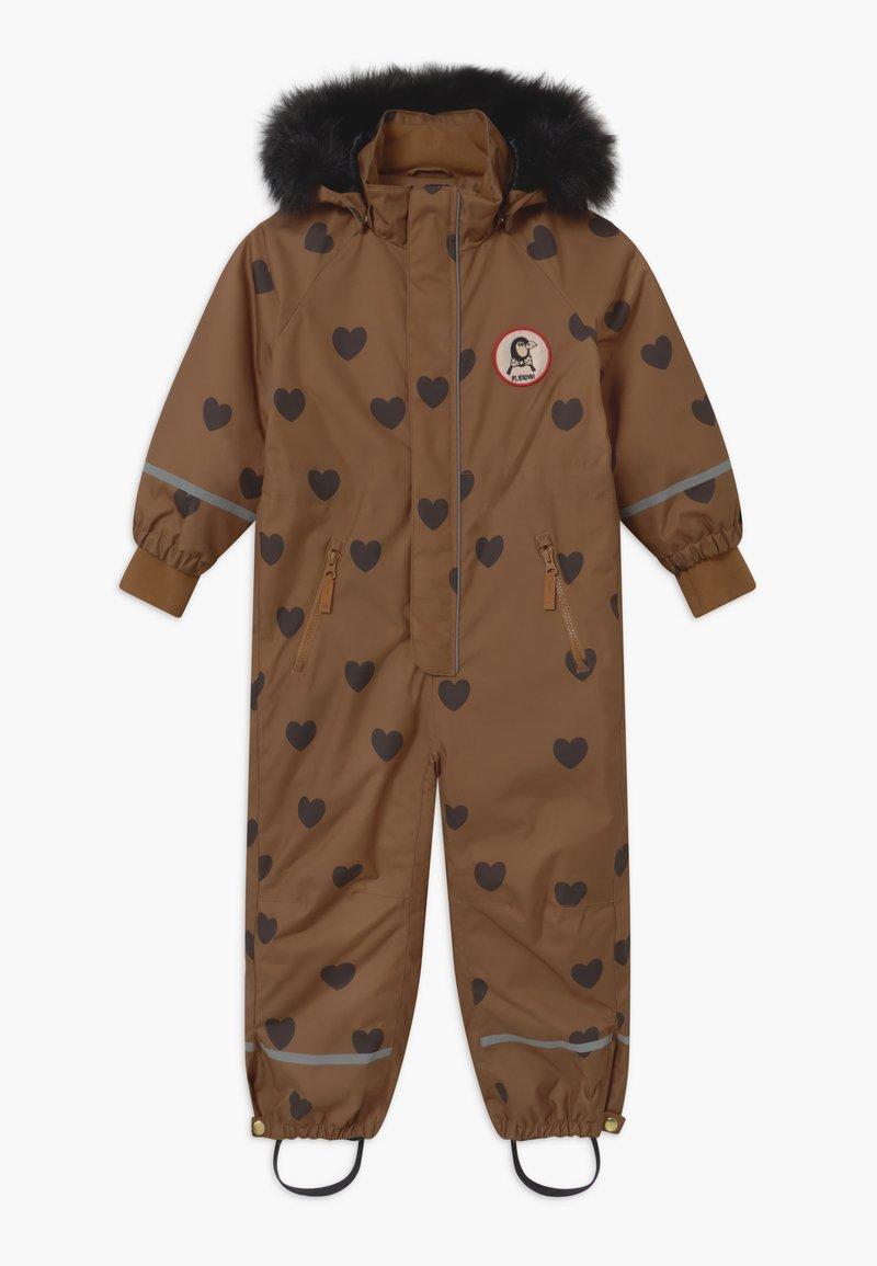 Mini Rodini - KEBNEKAISE HEARTS - Snowsuit - brown