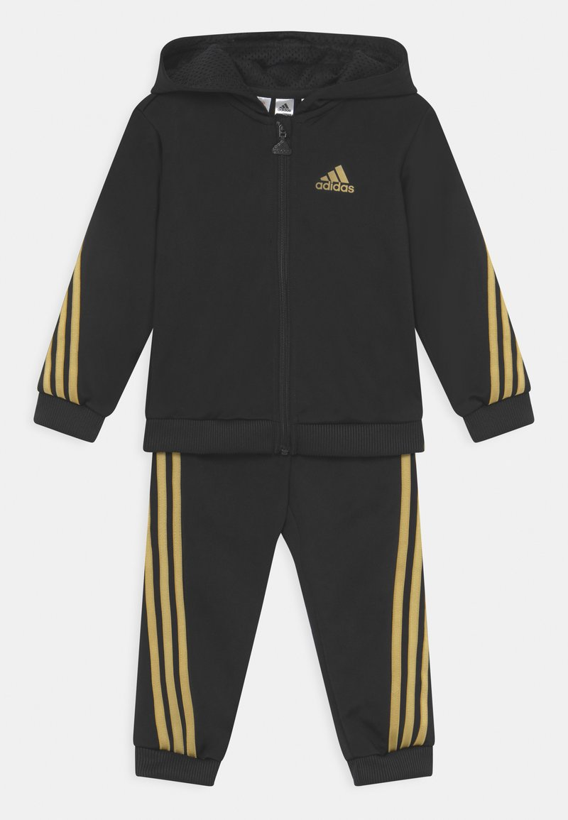 adidas Performance - SHINY SET UNISEX - Survêtement - black/gold metalic