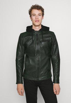 GET START - Leather jacket - deep pine