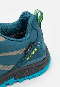 Hi-Tec - STINGER WP WOMENS - Hiking shoes - lake blue/light sapphire/yellow/silver - 5
