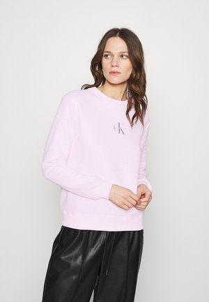 MONOGRAM LOGO CREW NECK - Mikina - pearly pink/quiet grey