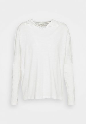 HOODY - Long sleeved top - offwhite