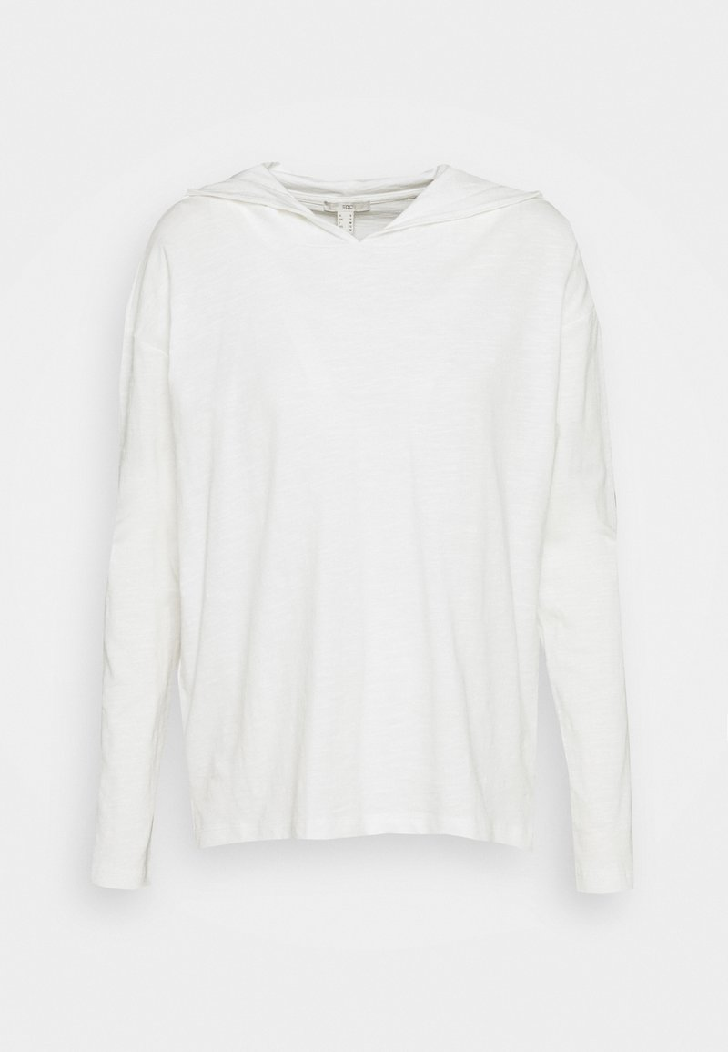 edc by Esprit - HOODY - Long sleeved top - offwhite