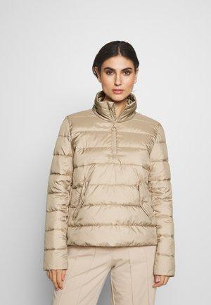 LIGHT FAKE ZIPPER ZIPPER - Light jacket - nordic beige