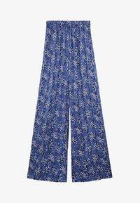 Mango - MIT BLUMENMUSTER - Pantalon classique - blau - 5