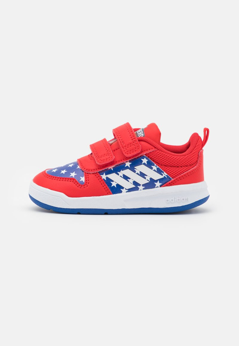 adidas Performance - TENSAUR UNISEX - Sports shoes - vivid red/footwear white/team royal blue