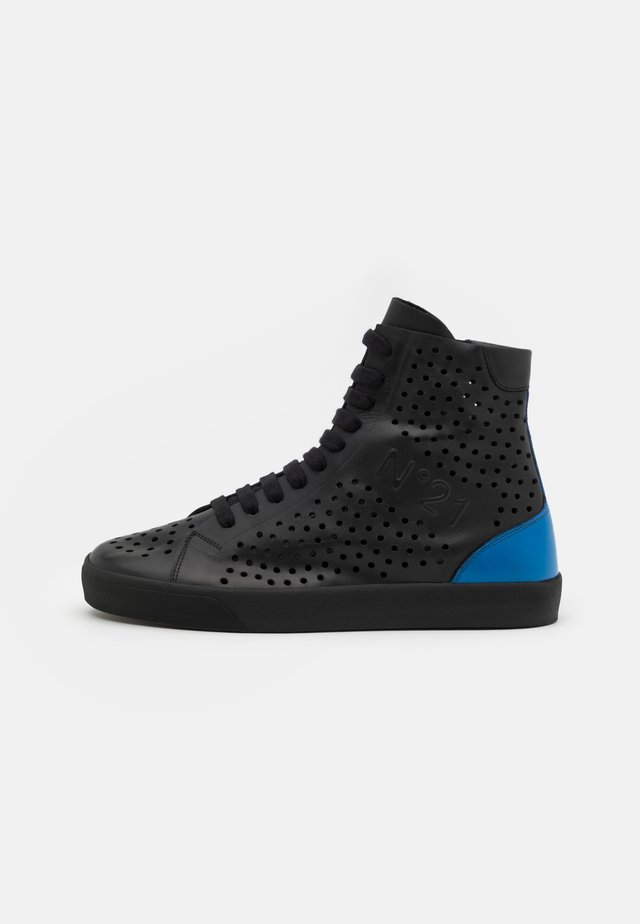 Sneakers hoog - black/blue