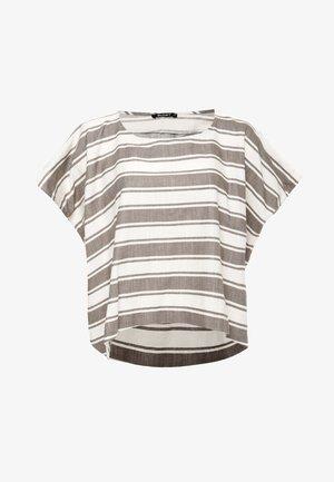 SHARON - T-shirt imprimé - hellbraun, weiß