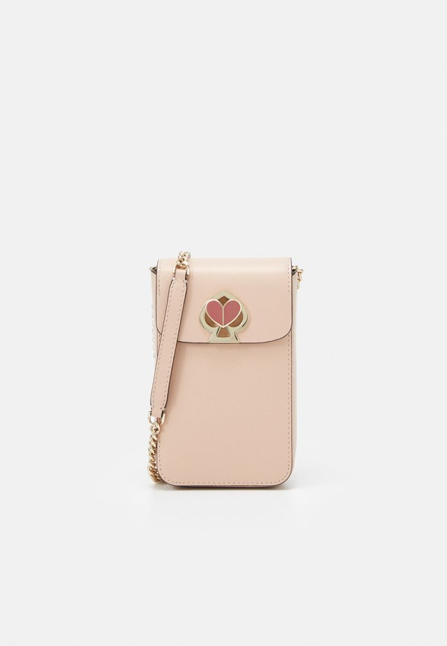 NICOLA TWISTLOCK NORTH SOUTH FLAP CROSSBODY - Skulderveske - blush