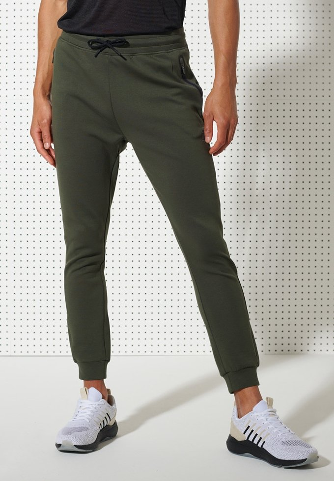 Superdry - TRAINING GYMTECH - Tracksuit bottoms - army khaki