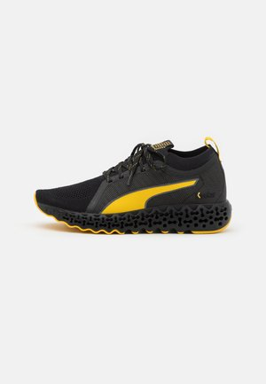CALIBRATE RUNNER KEVLAR - Neutral running shoes - black/super lemon