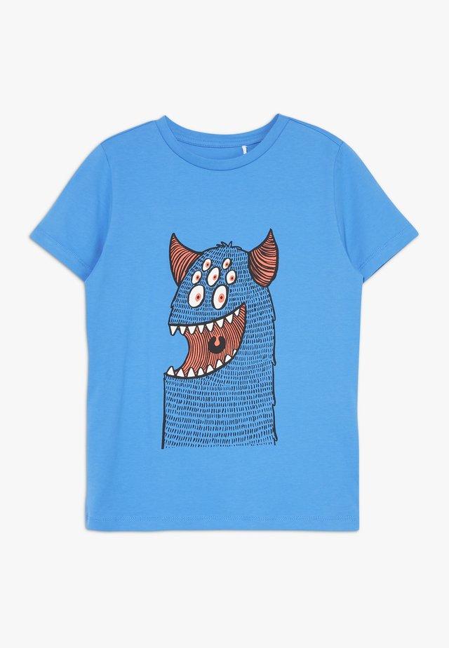 NKMDEXTOR  - T-shirt z nadrukiem - swedish blue
