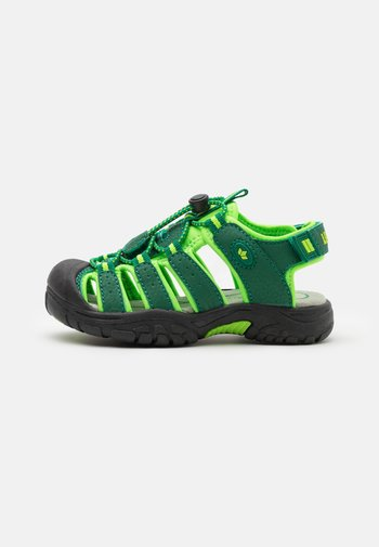 NIMBO - Walking sandals - grün/lemon
