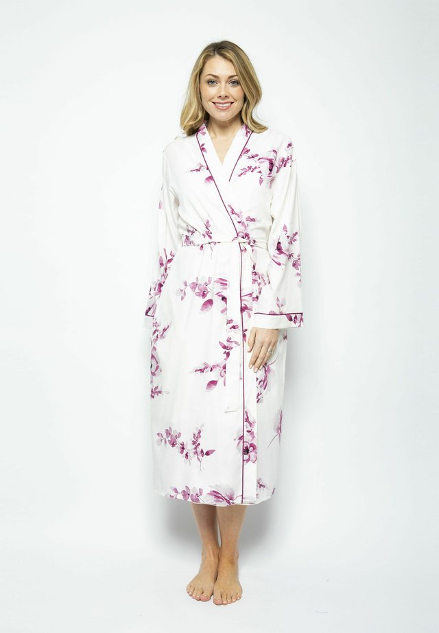 Dressing gown - burgundy floral