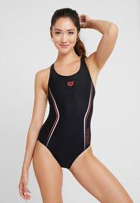 Arena - STRAIGHTLINE SWIM PRO ONE PIECE - Swimsuit - black/red/white - 0