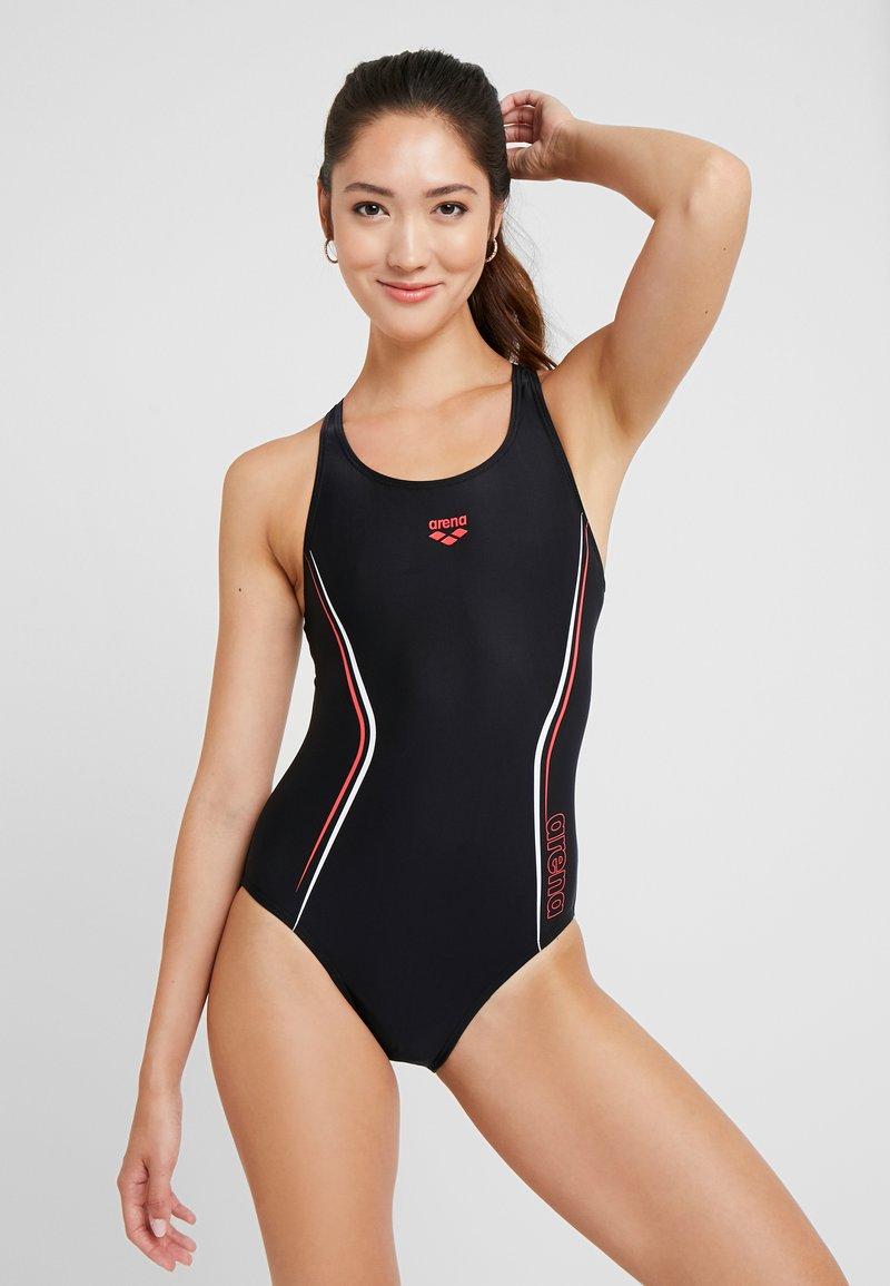 Arena - STRAIGHTLINE SWIM PRO ONE PIECE - Swimsuit - black/red/white