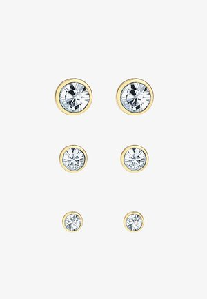 GLASS CRYSTAL - Earrings - gold colored