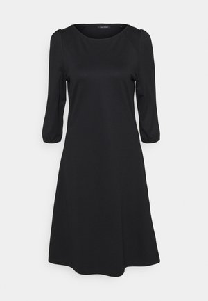 DRESS ROUND NECK - Žerzejové šaty - black