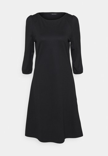 DRESS ROUND NECK - Jersey dress - black