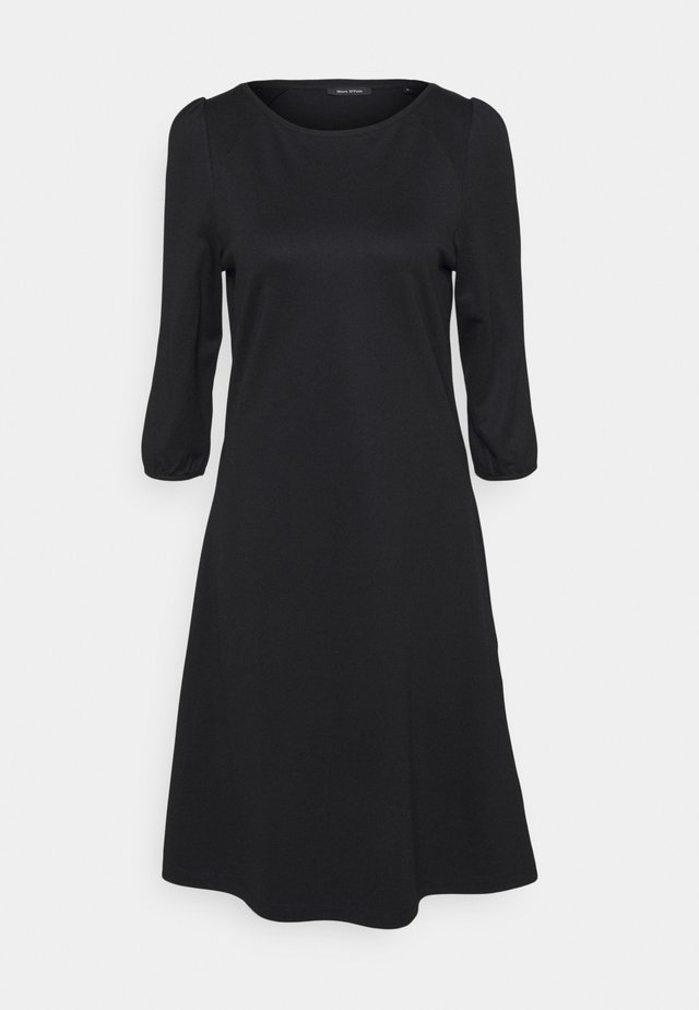 DRESS ROUND NECK - Sukienka z dżerseju - black