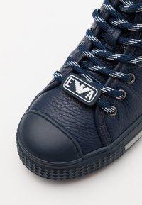 Emporio Armani - High-top trainers - dark blue - 5