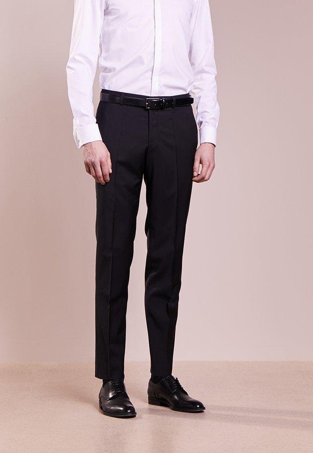 GRIFFIN - Suit trousers - black