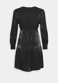 YAS Petite - SHINE SHORT DRESS PETITE - Vestido de cóctel - black - 1