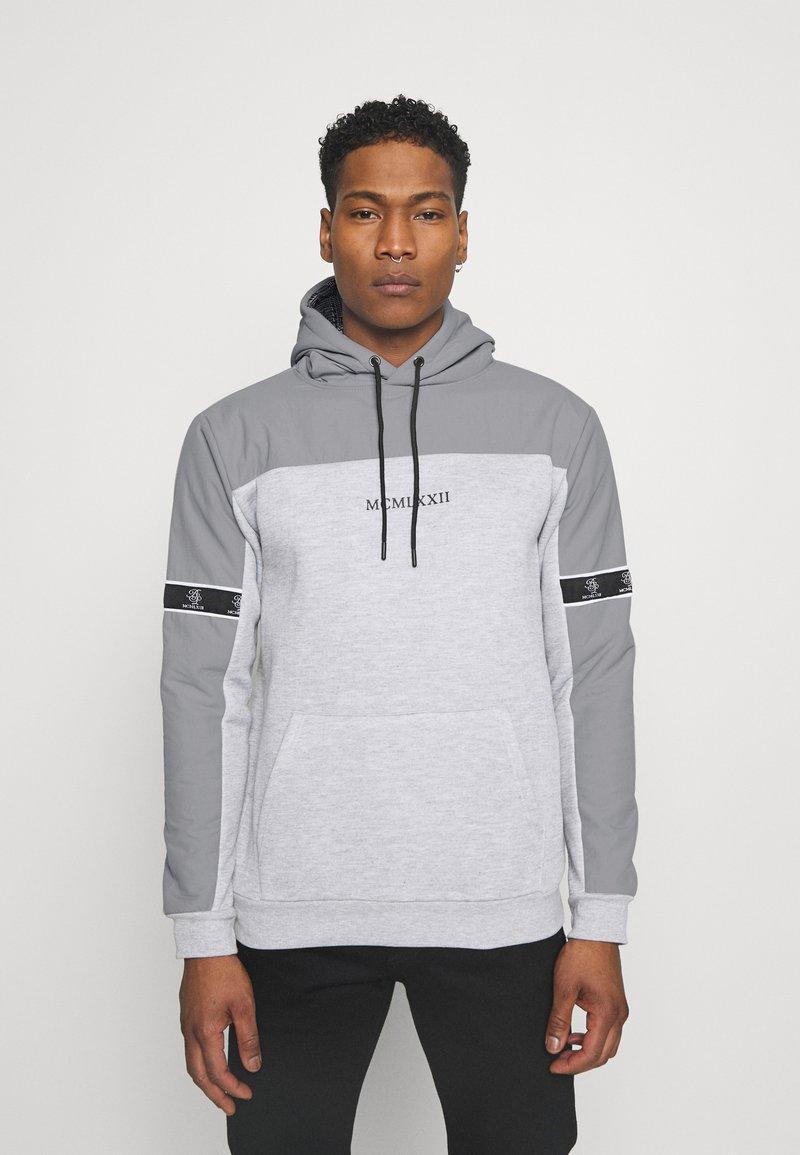 Brave Soul - THAMES - Sweatshirt - light grey marl/light grey/jet black