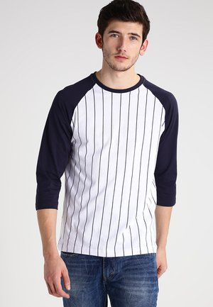 Long sleeved top - white/navy
