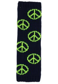 MyMo Accessories - Leg warmers - peace - blau/neongelb - 2