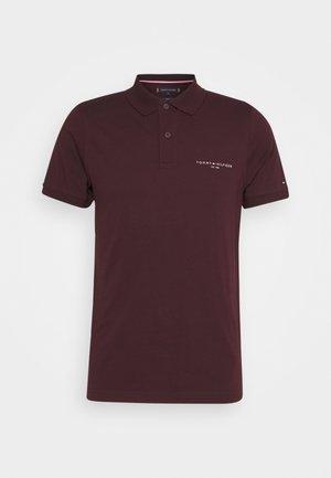 CLEAN SLIM - Polo - deep burgundy